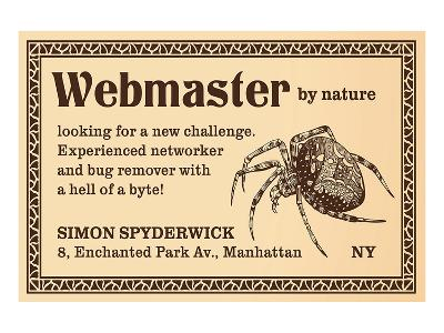 Webmaster--Art Print
