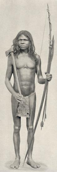 'Wedda mit Bogen, Pfeilen und Beil', 1926-Unknown-Photographic Print