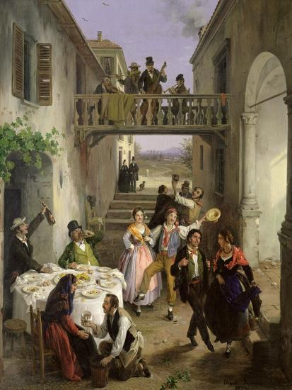 Wedding at Brianza, 1873-Angelo Inganni-Giclee Print