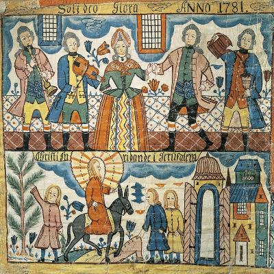 Wedding at Cana and Christ's Entry into Jerusalem, 1781--Giclee Print
