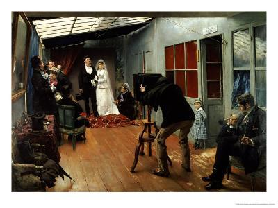 Wedding at the Photographer's, 1878-9-Pascal Adolphe Jean Dagnan-Bouveret-Giclee Print