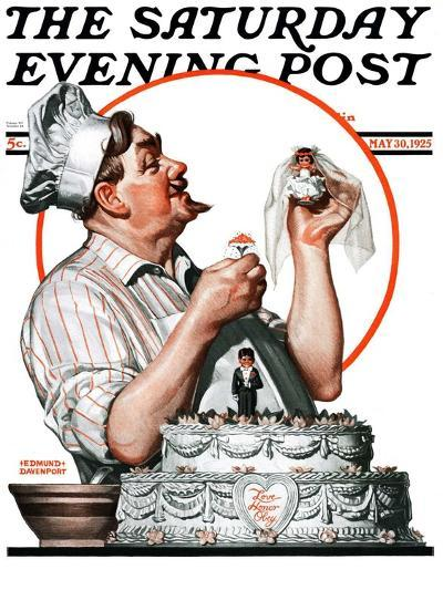 """Wedding Cake,"" Saturday Evening Post Cover, May 30, 1925-Edmund Davenport-Giclee Print"