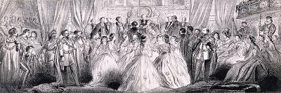 Wedding Ceremony of Prince Edward and Princess Alexandra in St George's Chapel at Windsor Castle--Giclee Print