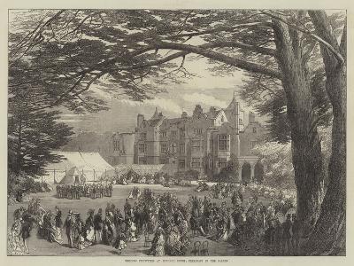 Wedding Festivities at Holland House, Breakfast in the Garden--Giclee Print