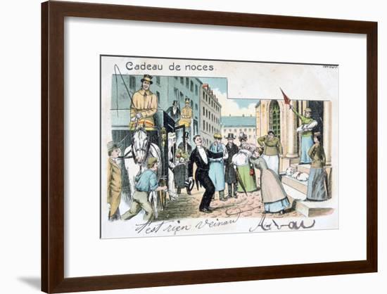 Wedding Gift, C1900--Framed Giclee Print
