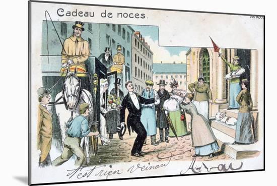 Wedding Gift, C1900--Mounted Giclee Print