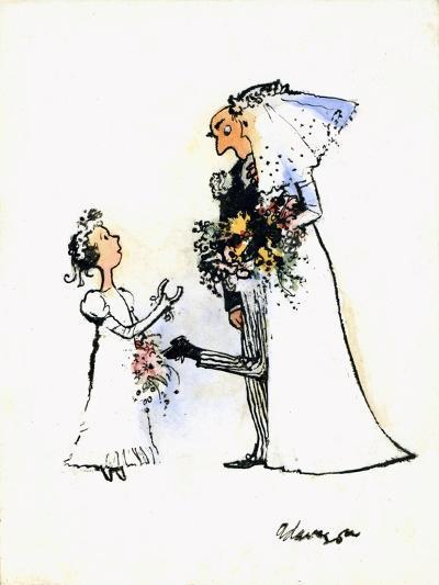 Wedding Horse-Shoe Heel-George Adamson-Giclee Print