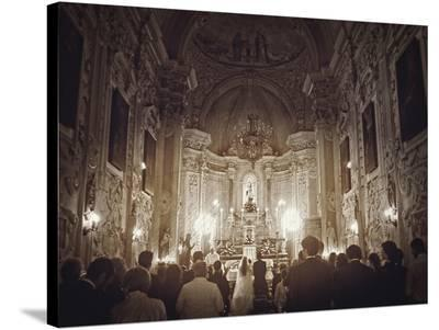 Wedding In Sicily-Golie Miamee-Stretched Canvas Print
