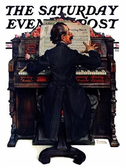 """""""Wedding March"""" Saturday Evening Post Cover, June 23,1928-Norman Rockwell-Giclee Print"""