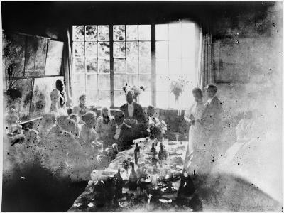 Wedding Meal of Suzanne Hoschede and Theodore Earl Butler, 20 July 1892 (B/W Print)--Giclee Print