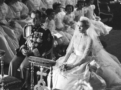 Wedding of Prince Rainier of Monaco to American Actress Grace Kelly-Thomas D^ Mcavoy-Premium Photographic Print