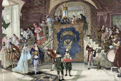 Wedding of Princess Borghese in Rome--Giclee Print