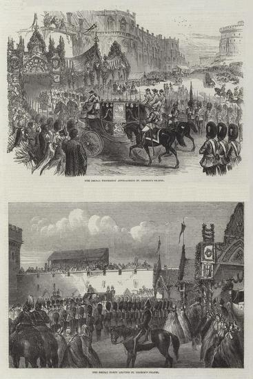 Wedding of the Prince of Wales and Alexandra of Denmark--Giclee Print