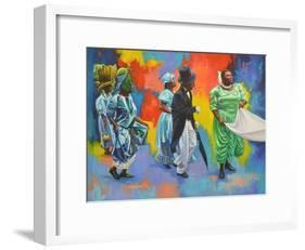 Wedding Procession  2017  (oil on board)-Colin Bootman-Framed Giclee Print