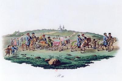 Wedding Procession, Russia, 1820--Giclee Print