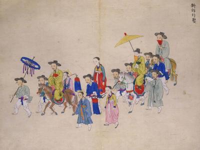 Wedding Procession with Groom-Kim Junkeun-Giclee Print