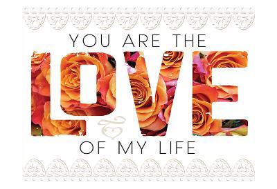 Wedding Typo Lace 1-Melody Hogan-Art Print