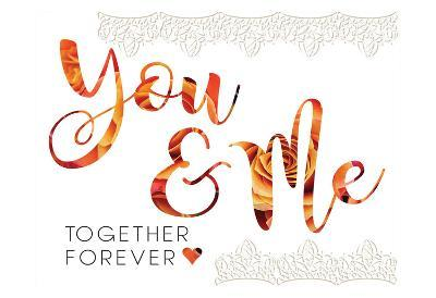 Wedding Typo Lace 4-Melody Hogan-Art Print