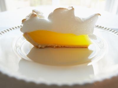 Wedge of Delicious Lemon Meringue Pie--Photographic Print