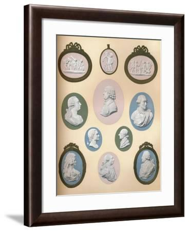 Wedgwood Portrait Medallions in the Possession of Messrs. Stoner and Evans, 1919--Framed Giclee Print