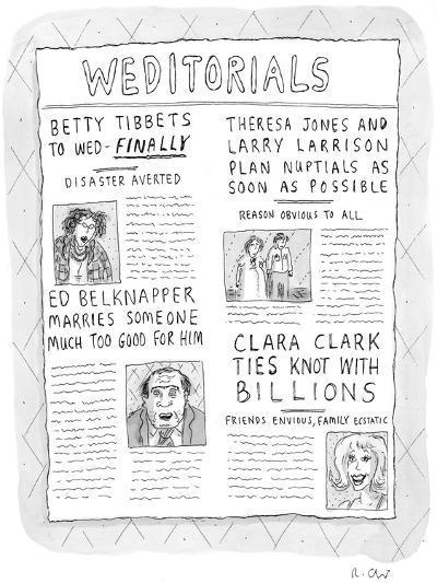 Weditorials - New Yorker Cartoon-Roz Chast-Premium Giclee Print