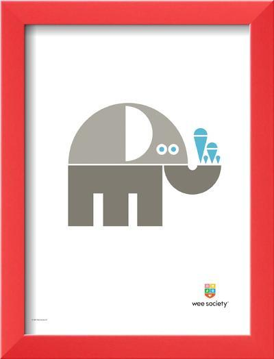 Wee Alphas, Eli the Elephant-Wee Society-Framed Art Print