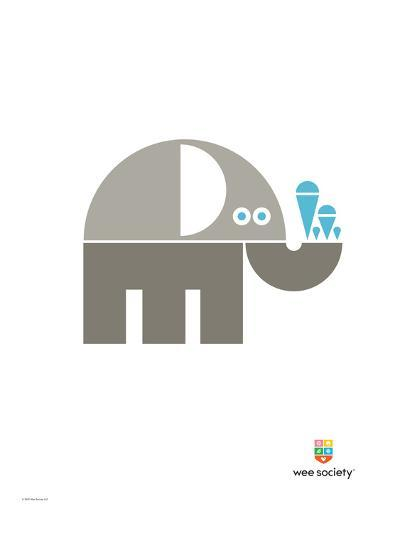 Wee Alphas, Eli the Elephant-Wee Society-Giclee Print
