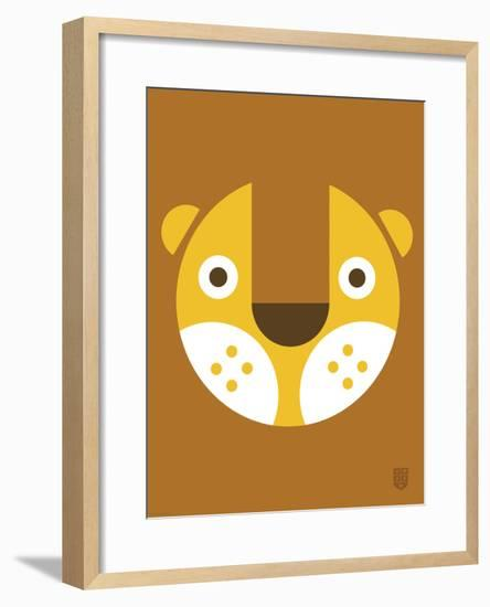 Wee Alphas Faces, Leo-Wee Society-Framed Art Print