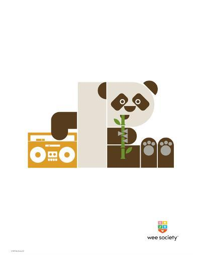 Wee Alphas, Polly the Panda-Wee Society-Giclee Print