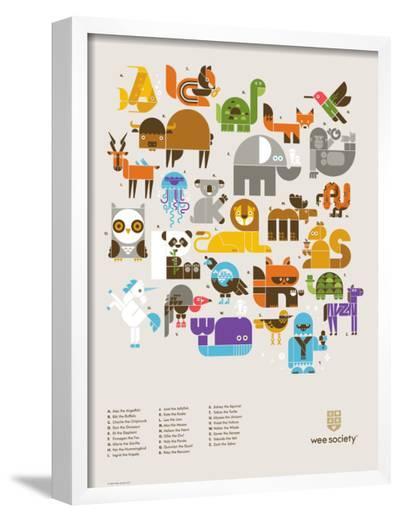 Wee Alphas Print-Wee Society-Framed Art Print