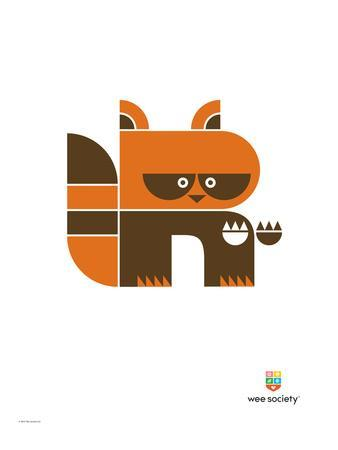 Wee Alphas, Riley the Raccoon-Wee Society-Premium Giclee Print