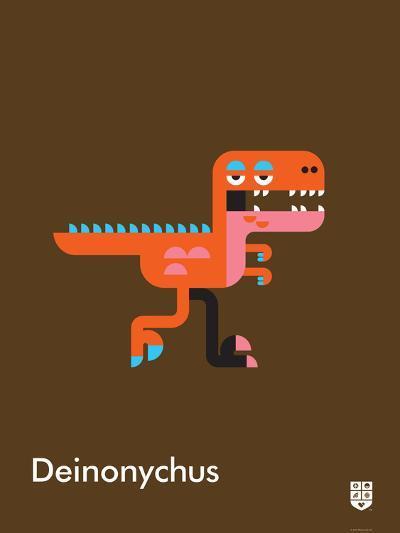 Wee Dinos, Deinonychus-Wee Society-Art Print