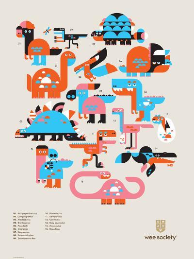 Wee Dinos, Dino Pals-Wee Society-Art Print