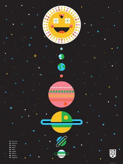 Wee Galaxy, Solar System-Wee Society-Premium Giclee Print