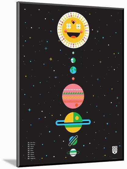 Wee Galaxy, Solar System-Wee Society-Mounted Art Print