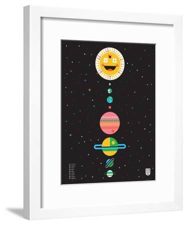 Wee Galaxy, Solar System-Wee Society-Framed Art Print