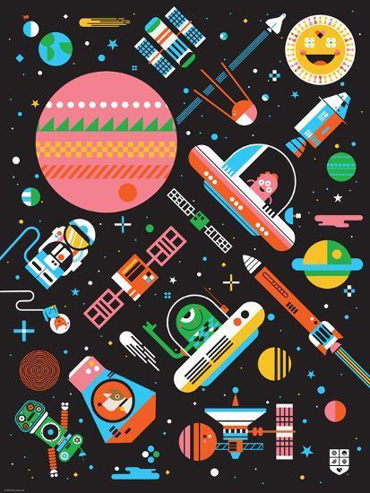 Wee Galaxy, Space Mania-Wee Society-Premium Giclee Print