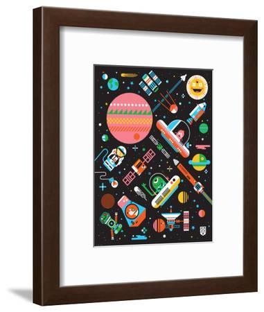 Wee Galaxy, Space Mania-Wee Society-Framed Art Print