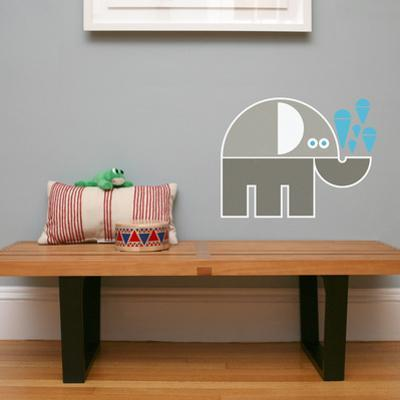 Letter E - Eli the Elephant Wall Decal