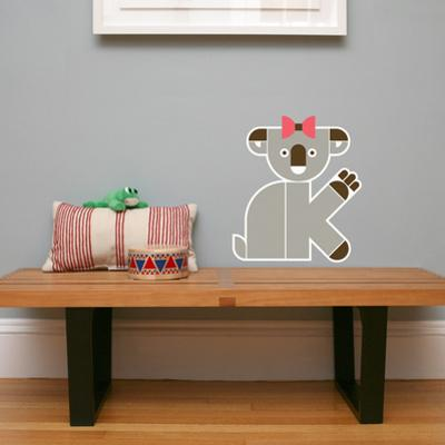 Letter K - Kate the Koala Wall Decal