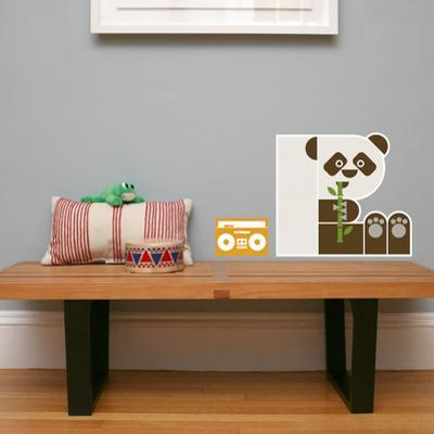 Letter P - Polly the Panda Wall Decal