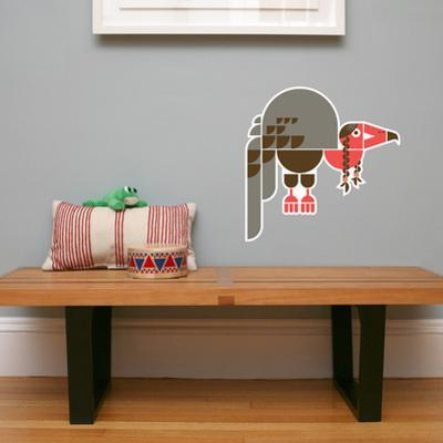 Letter V - Violet the Vulture Wall Decal