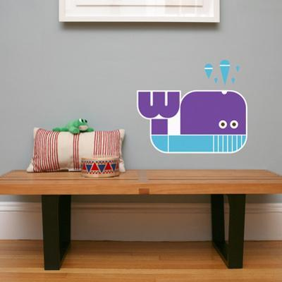 Letter W - Walter the Whale Wall Decal
