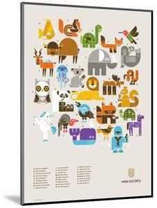 Wee Alphas Print by Wee Society