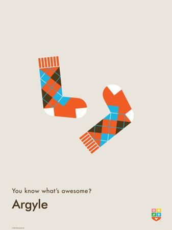 You Know What's Awesome? Argyle (Gray)