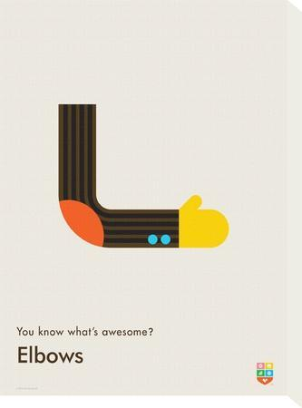 You Know What's Awesome? Elbows (Gray)