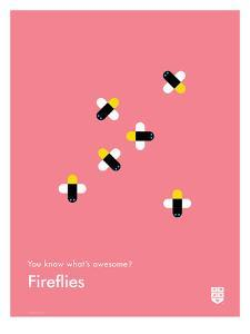 You Know What's Awesome? Fireflies (Pink) by Wee Society