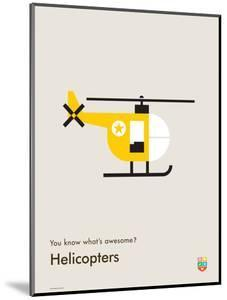 You Know What's Awesome? Helicopters (Gray) by Wee Society