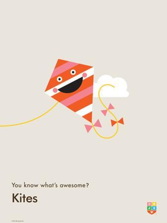 You Know What's Awesome? Kites (Gray)