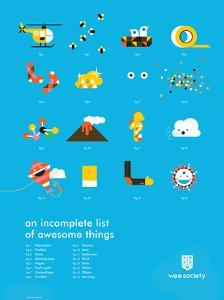 You Know What's Awesome? List (Blue) by Wee Society